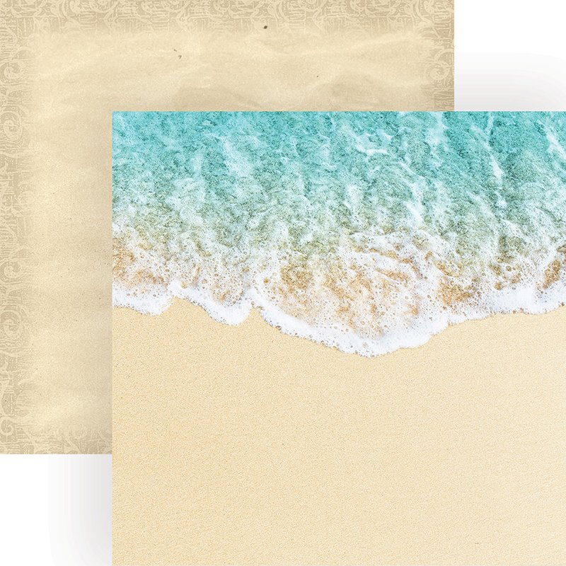Paper House - Coastal Waves Double-Sided Cardstock, 12 x 12
