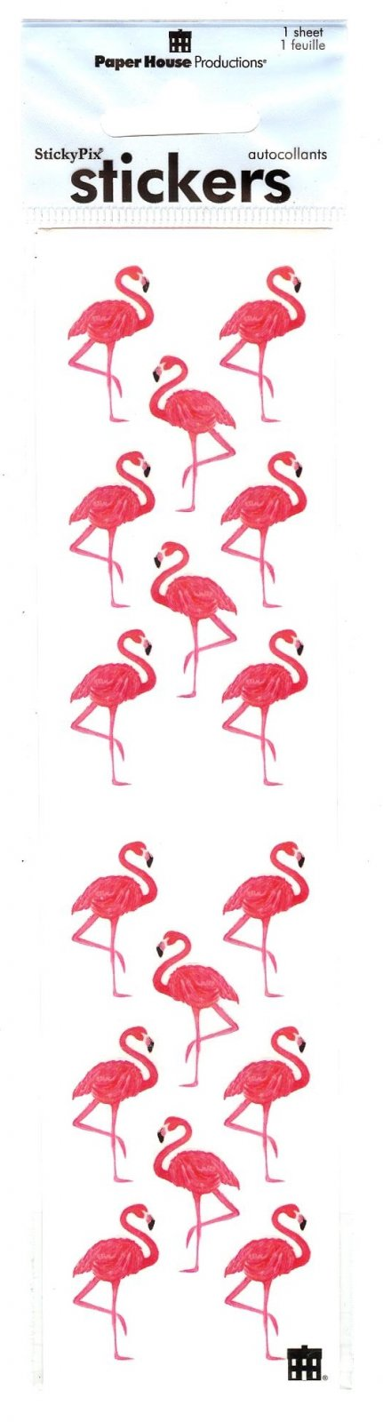 Paper House Sticker Sheet - Flamingos