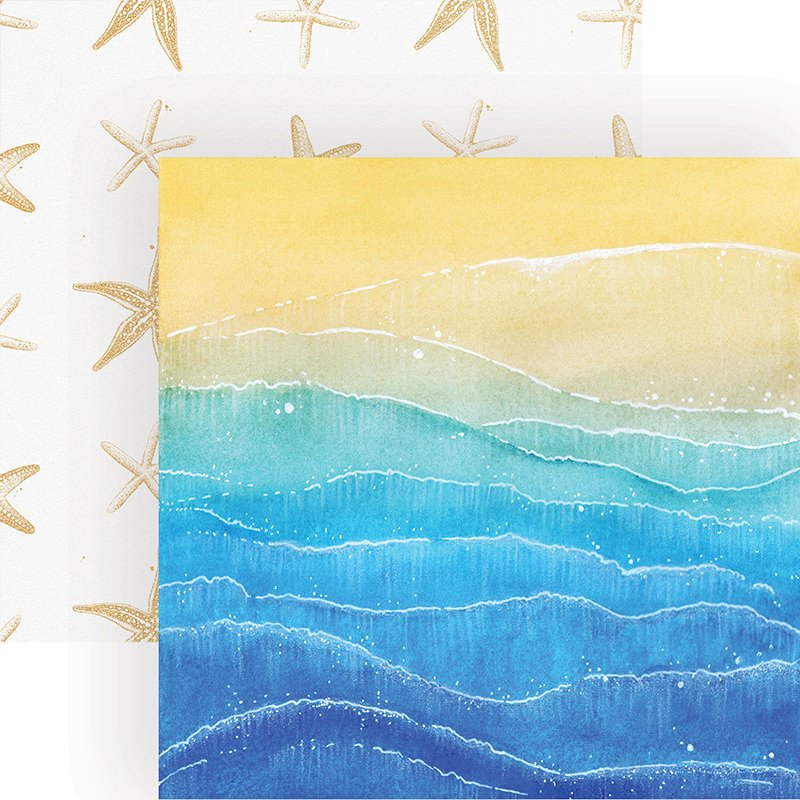 Paper House - Painted Waves Double-Sided Cardstock, 12 x 12