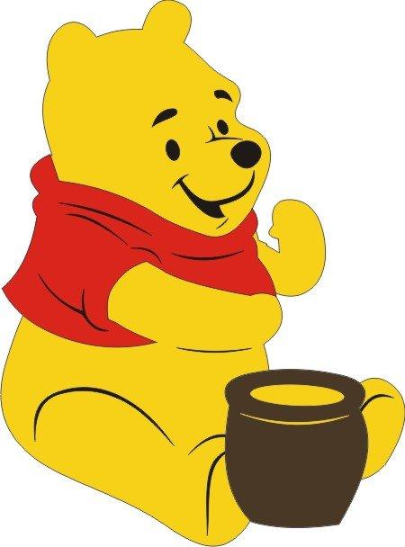 Petticoat Parlor - Pooh Bear w/Honey Pot Die Cut