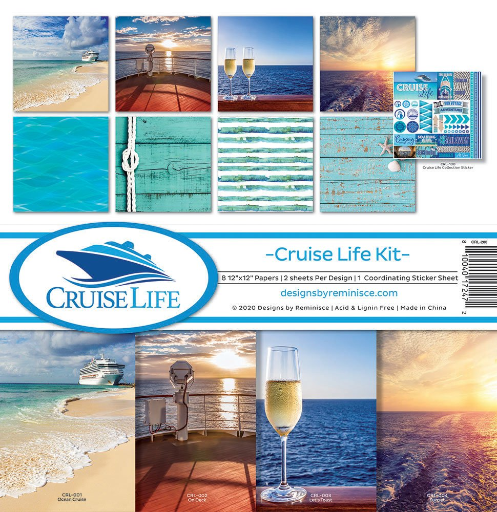 Reminisce Collection Kit 12X12 - Cruise Life
