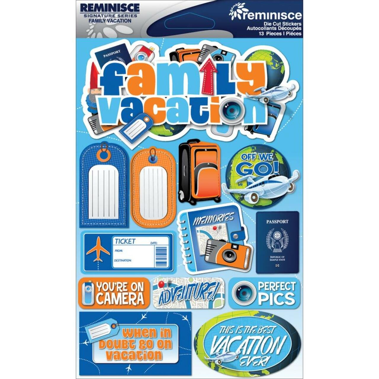 Reminisce - Family Vacation Die Cut Stickers