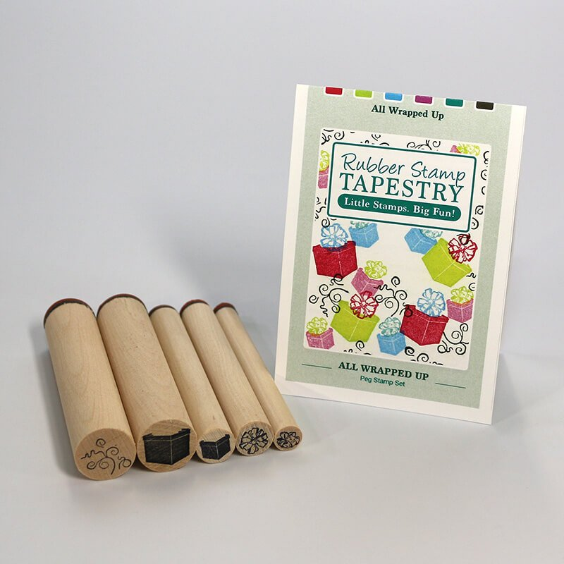 Rubber Stamp Tapestry - All Wrapped Up