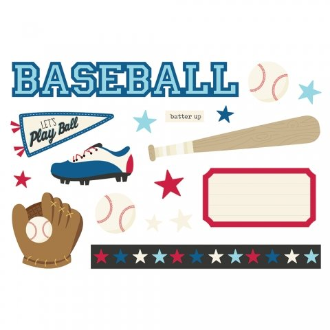 Simple Stories Simple Pages Page Pieces - Baseball