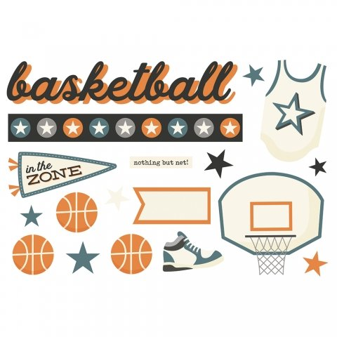 Simple Stories Simple Pages Page Pieces - Basketball