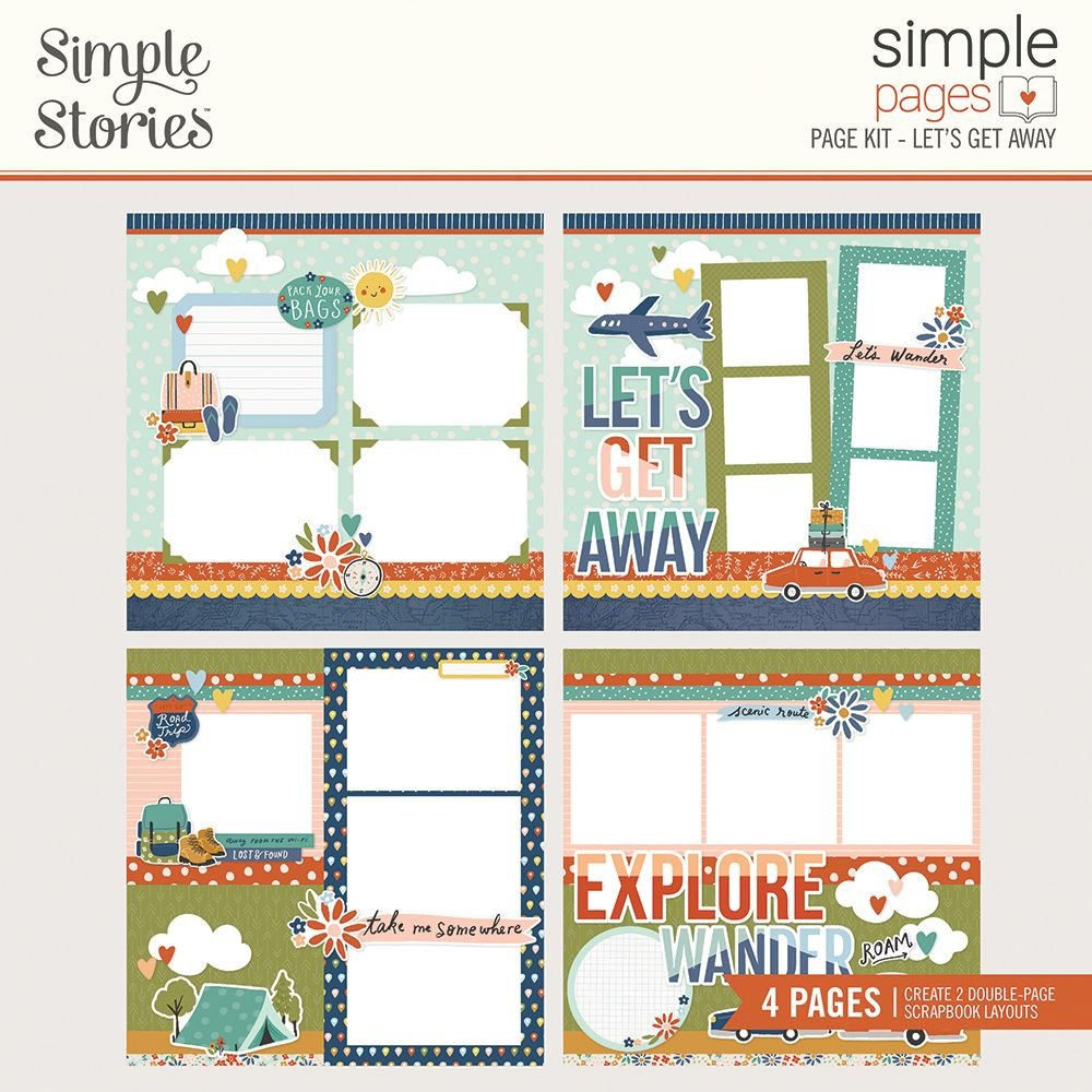 Simple Stories Simple Pages Page Kit - Let's Get Away!