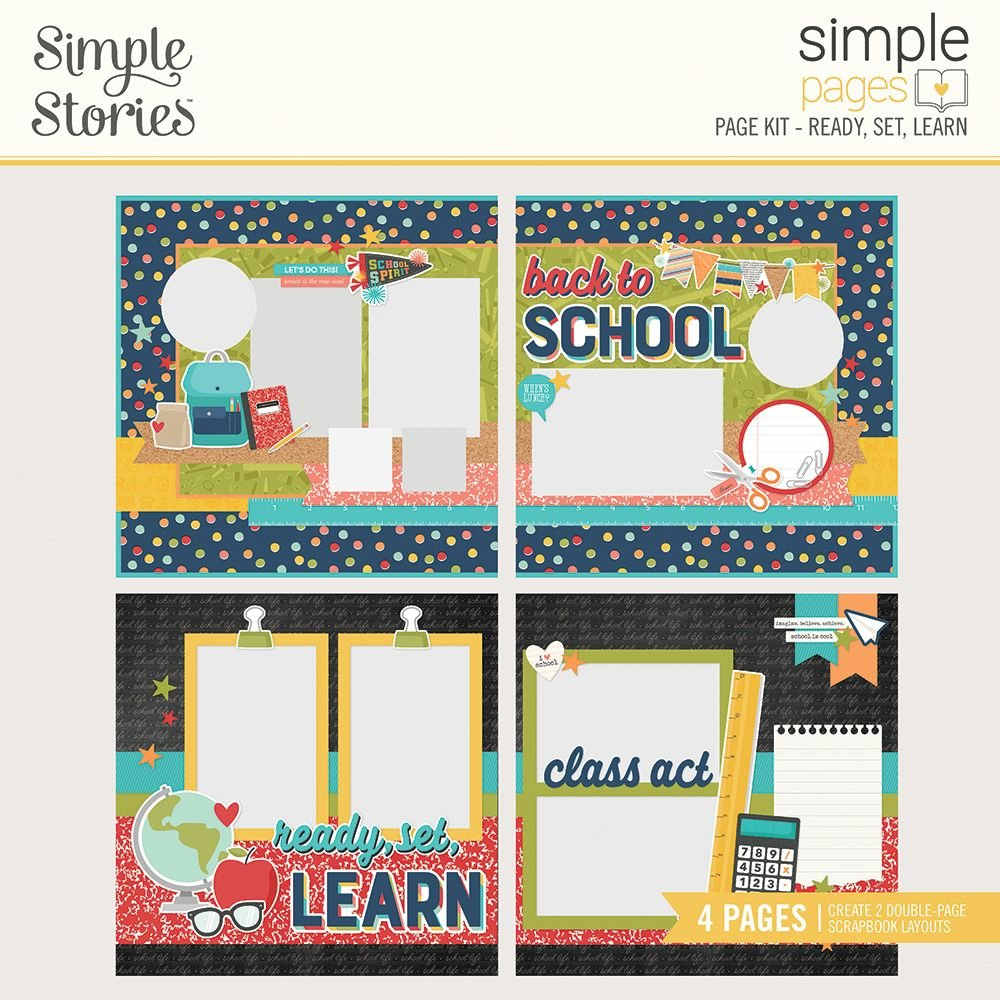 Simple Stories Simple Pages Page Kit - Ready, Set, Learn