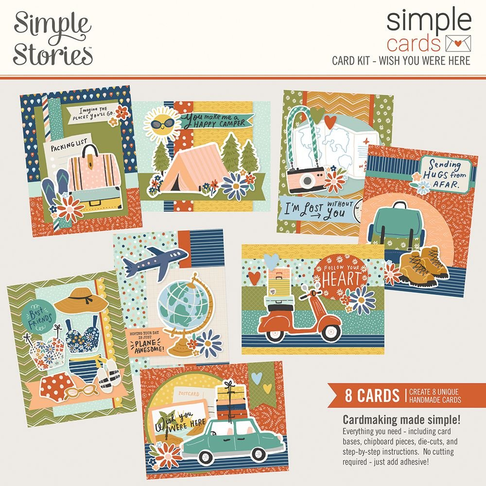 Simple Stories Simple Cards Card Kit - Wish You Were Here
