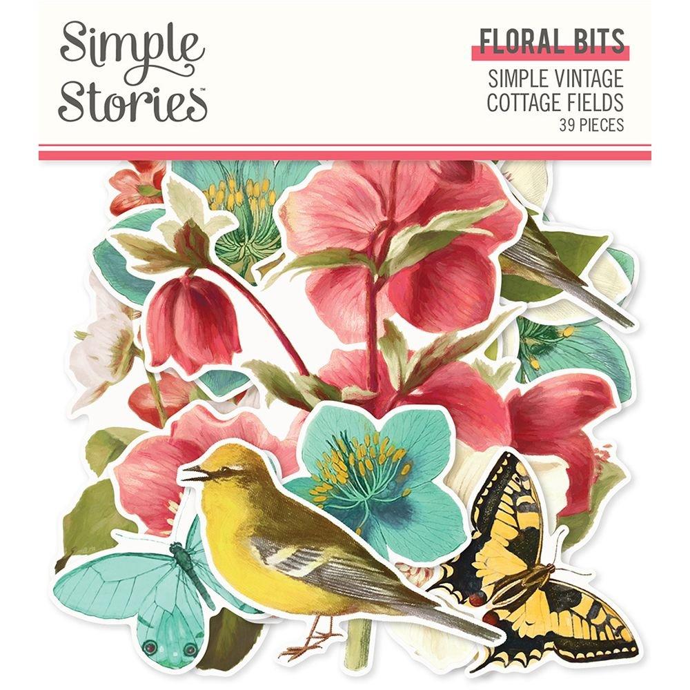 Simple Stories Simple Vintage Cottage Fields Floral Bits & Pieces