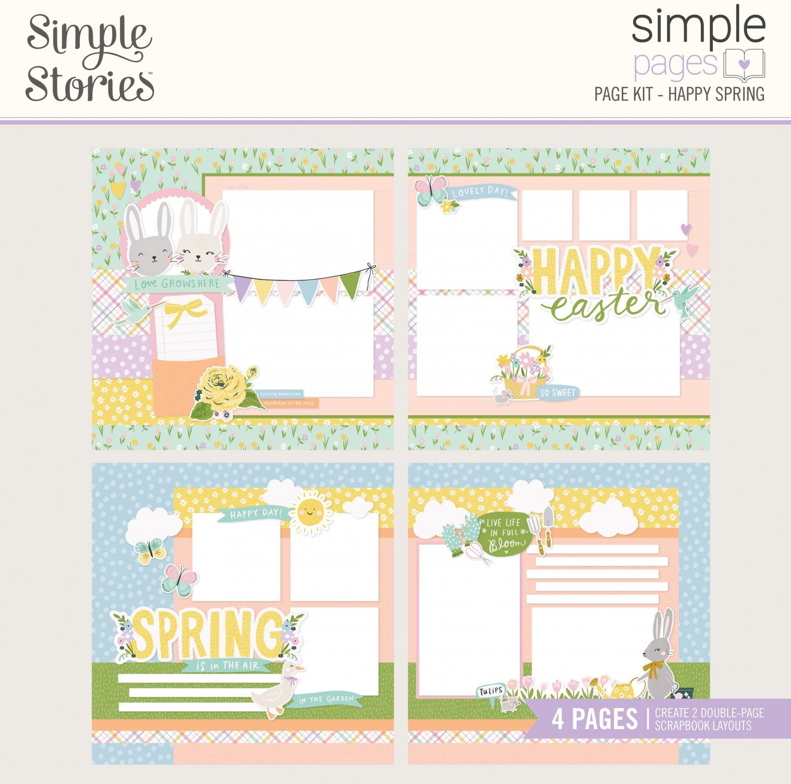 Simple Stories Simple Pages Page Kit - Happy Spring