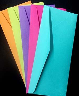 The Paper Cut, Slimline Envelopes, Festive Variety, 25 count