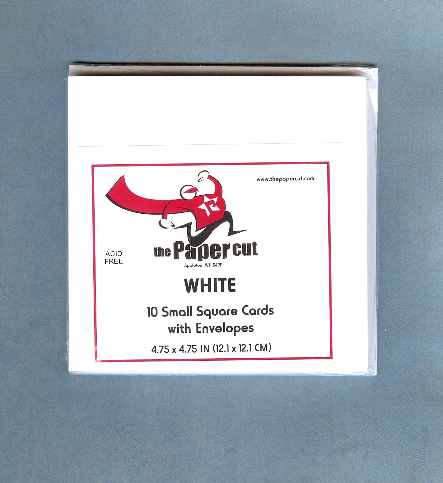 The Paper Cut, Small Square Cards with Envelopes, White, 10 count