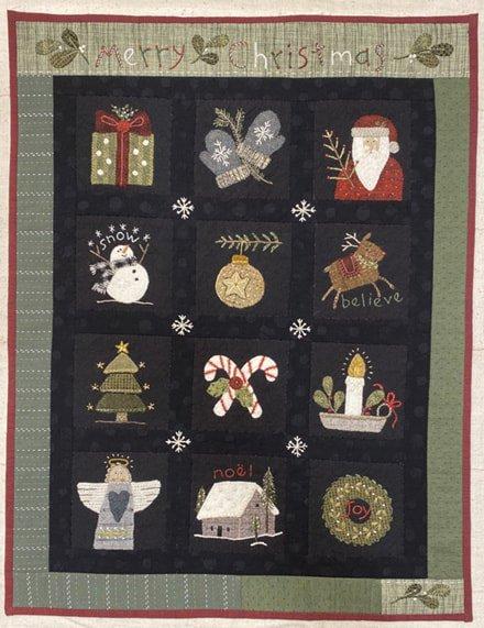 Christmas Sampler Mini Quilt