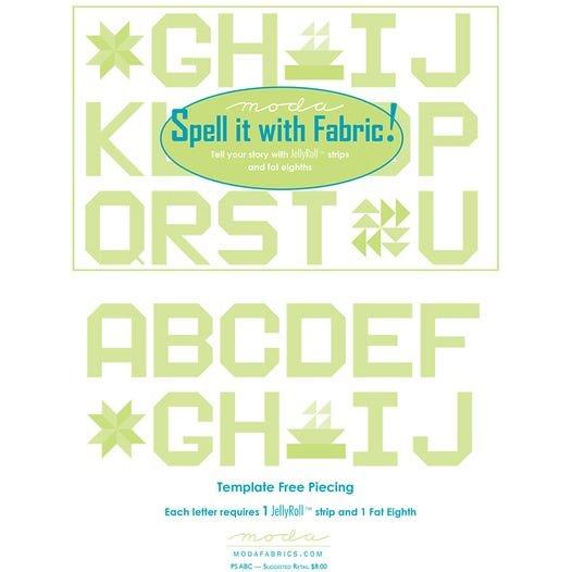 Moda Spell it with Fabric! Quilt Pattern Free PDF Moda Fabrics