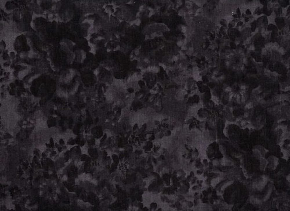 Faded Floral 108 Wide Dark Gray - FAB209 Gray Faded Flower Backing