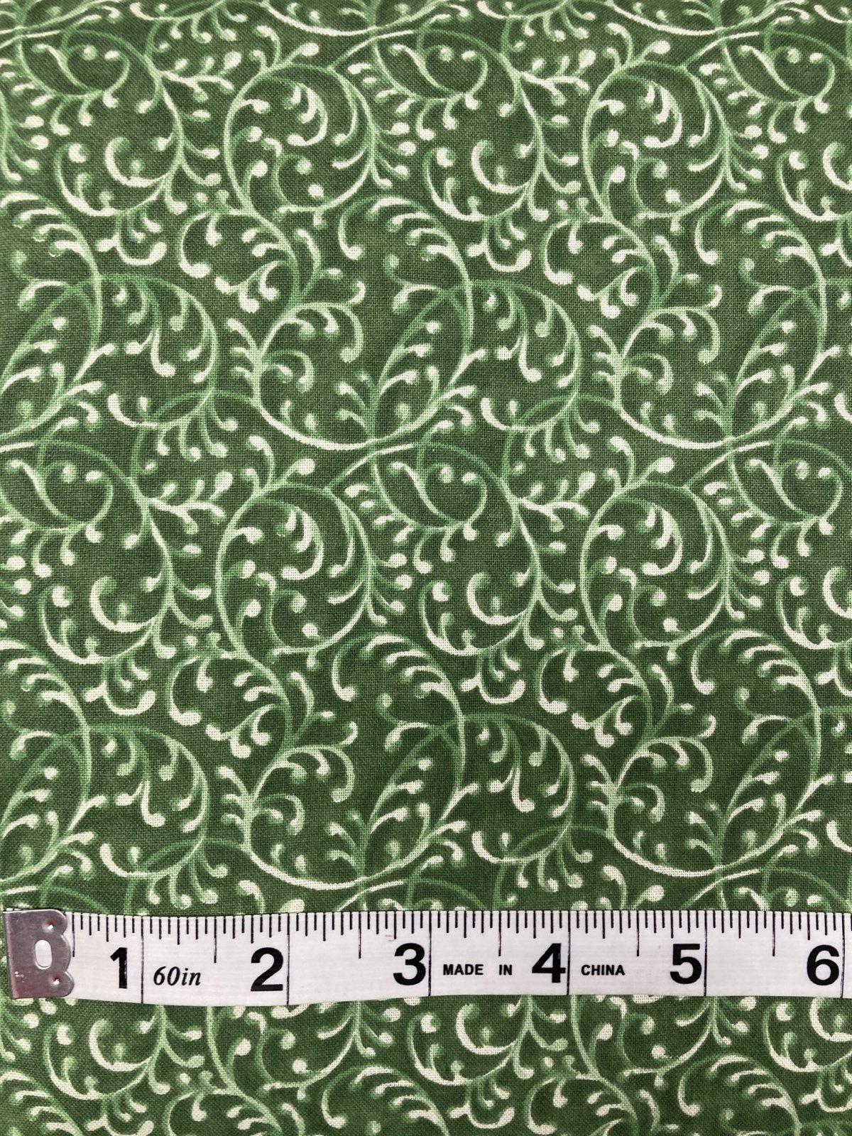 Swirly 108 Wide Olive Green