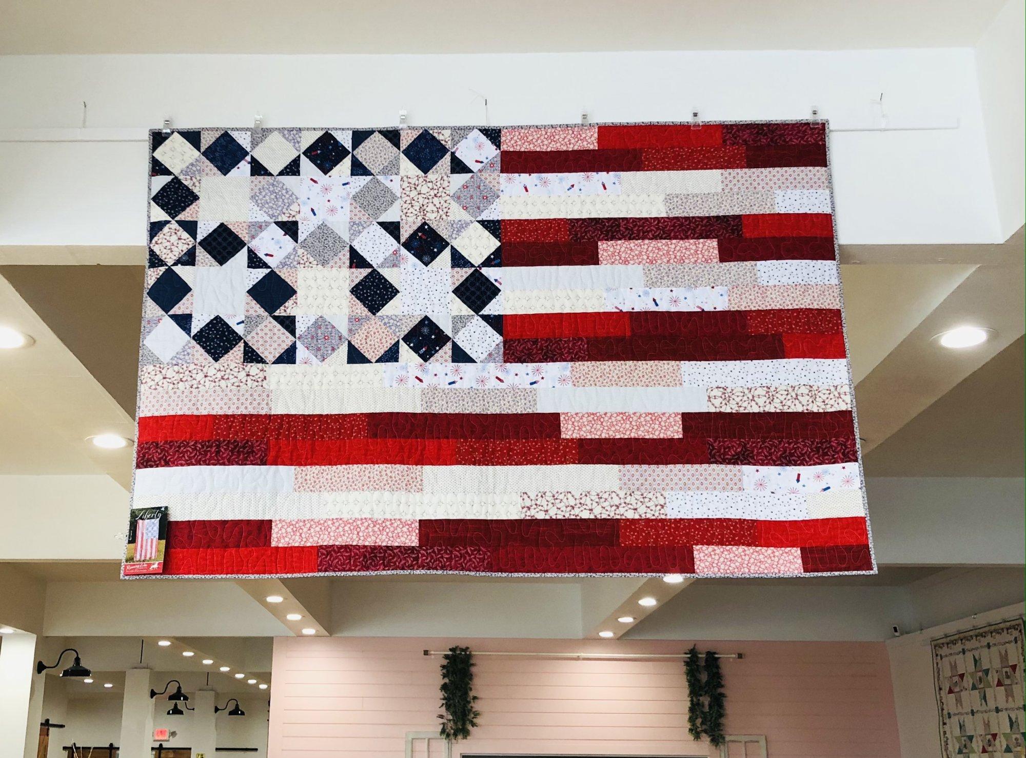 Liberty Quilt Kit finished size 45x70 - Villa Rosa Pattern