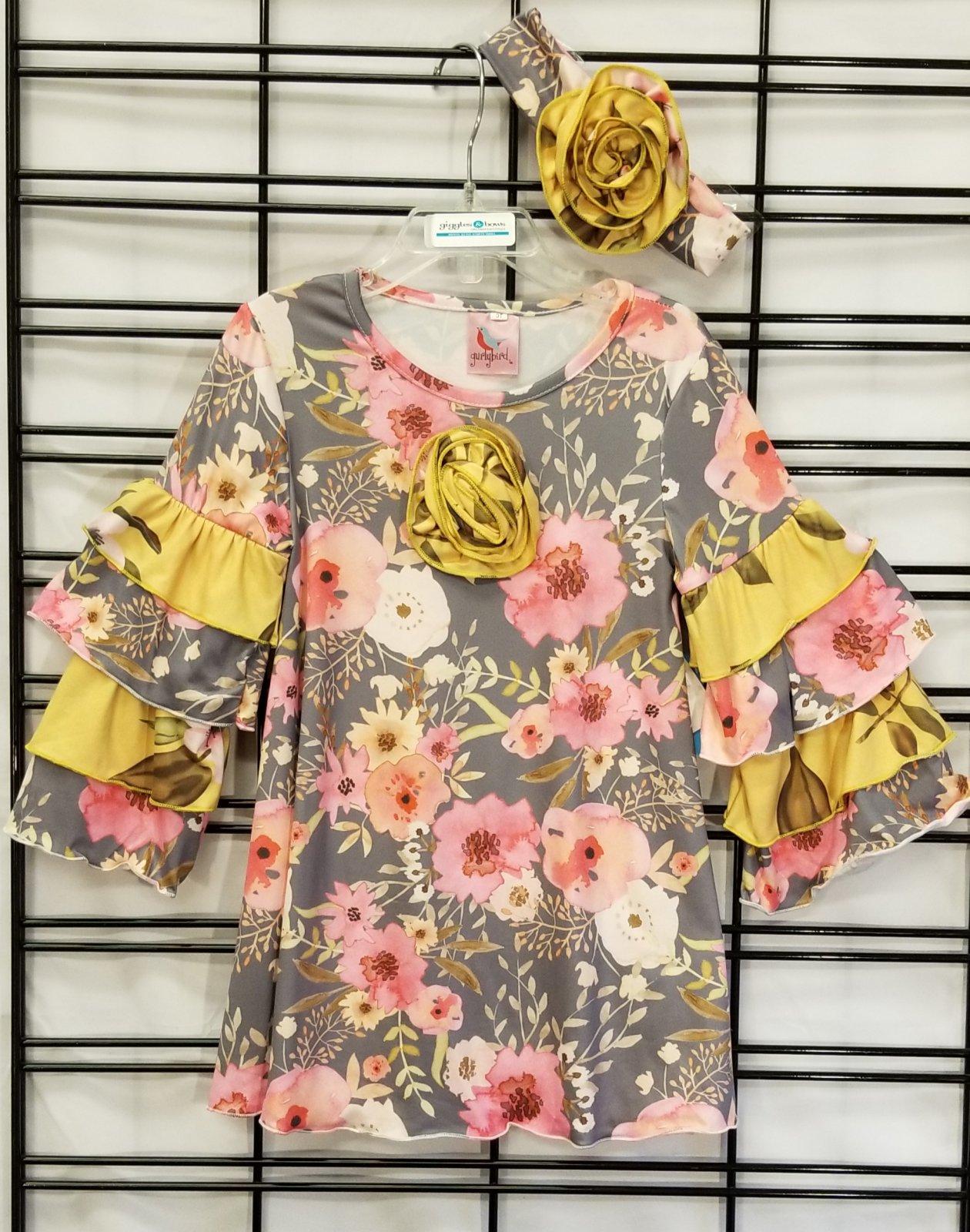 GURLYBIRD - Pink Poppy Dress/headband