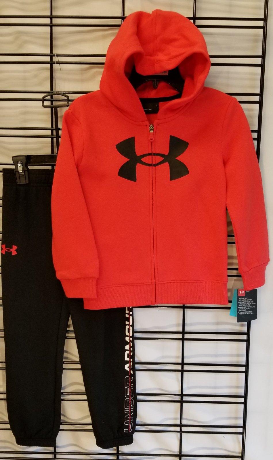 UNDER ARMOUR - Versa red full zip hoodie set