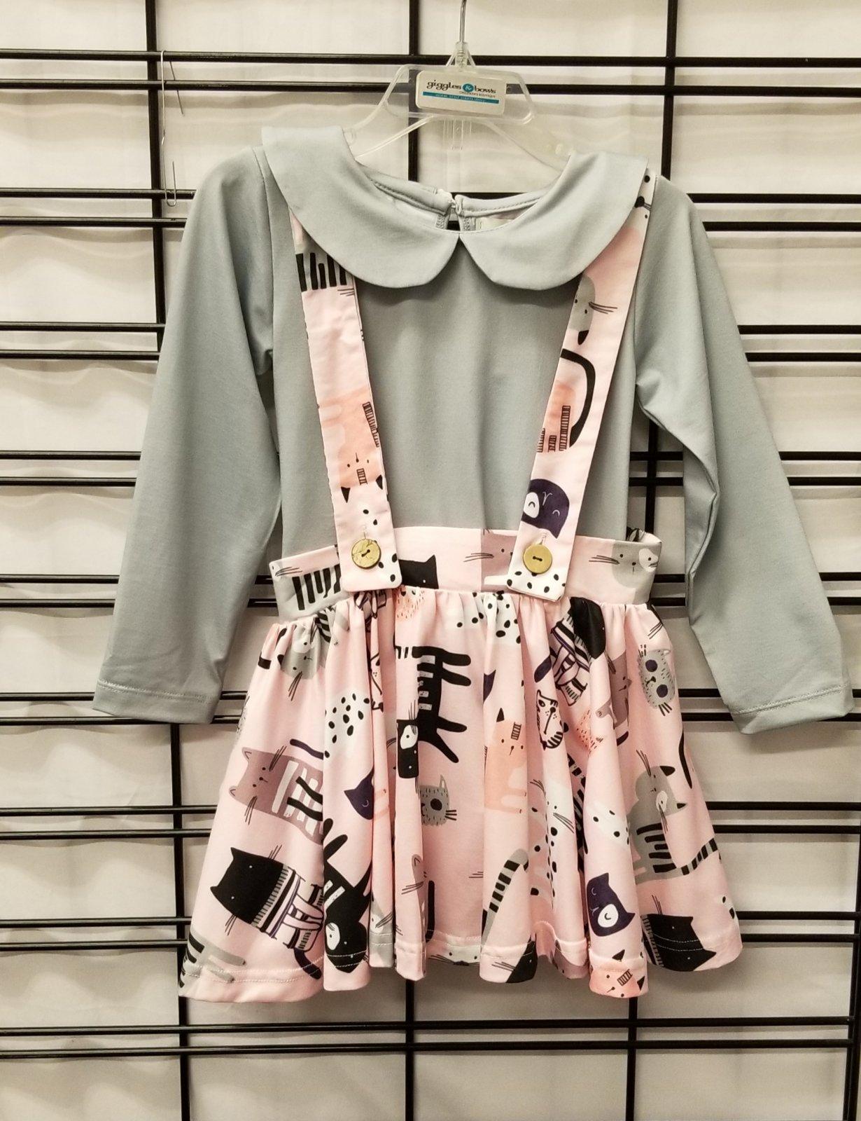 BE GIRL CLOTHING - Cat Shirt/Skirt
