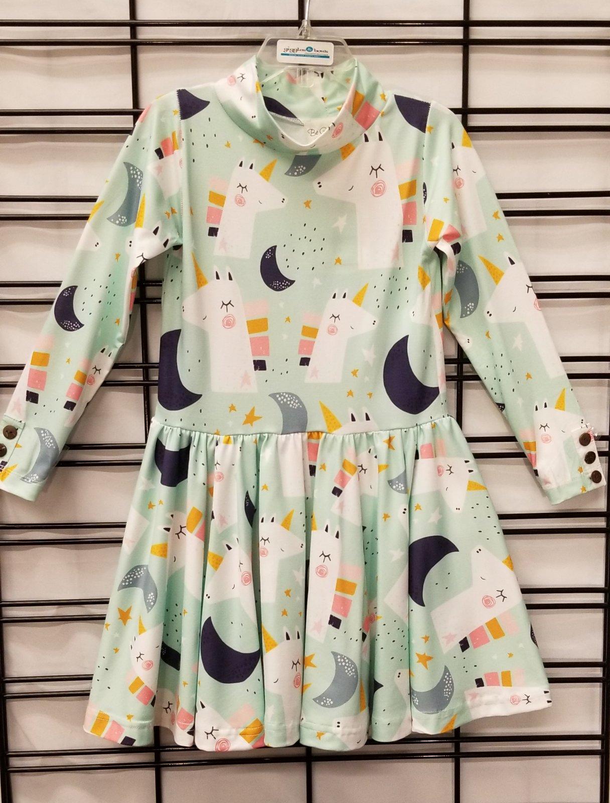 BE GIRL CLOTHING - Mint unicorn dress