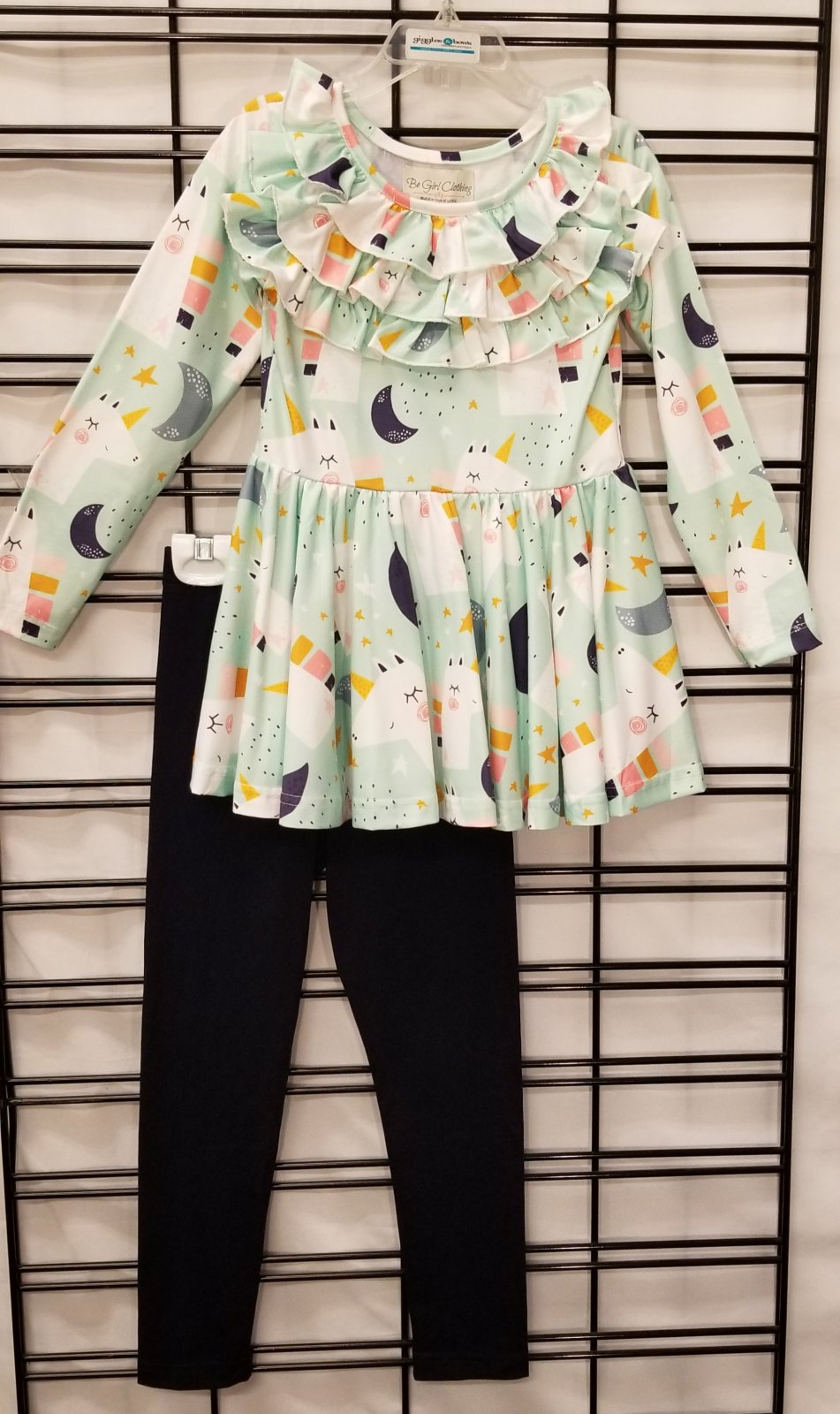 BE GIRL CLOTHING - Mint Unicorn Tunic/Pants