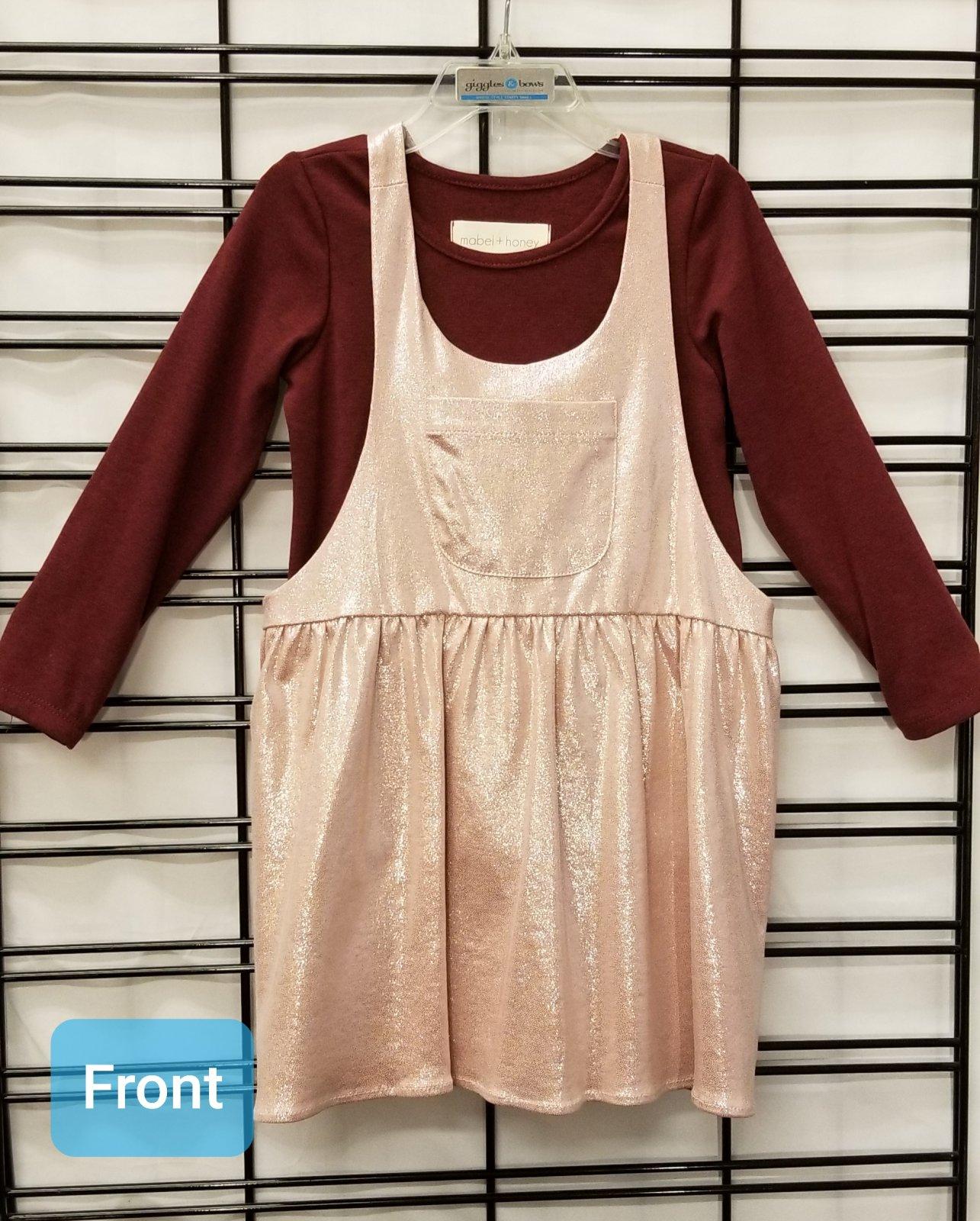 MABEL & HONEY - Pink/berry dress jumper