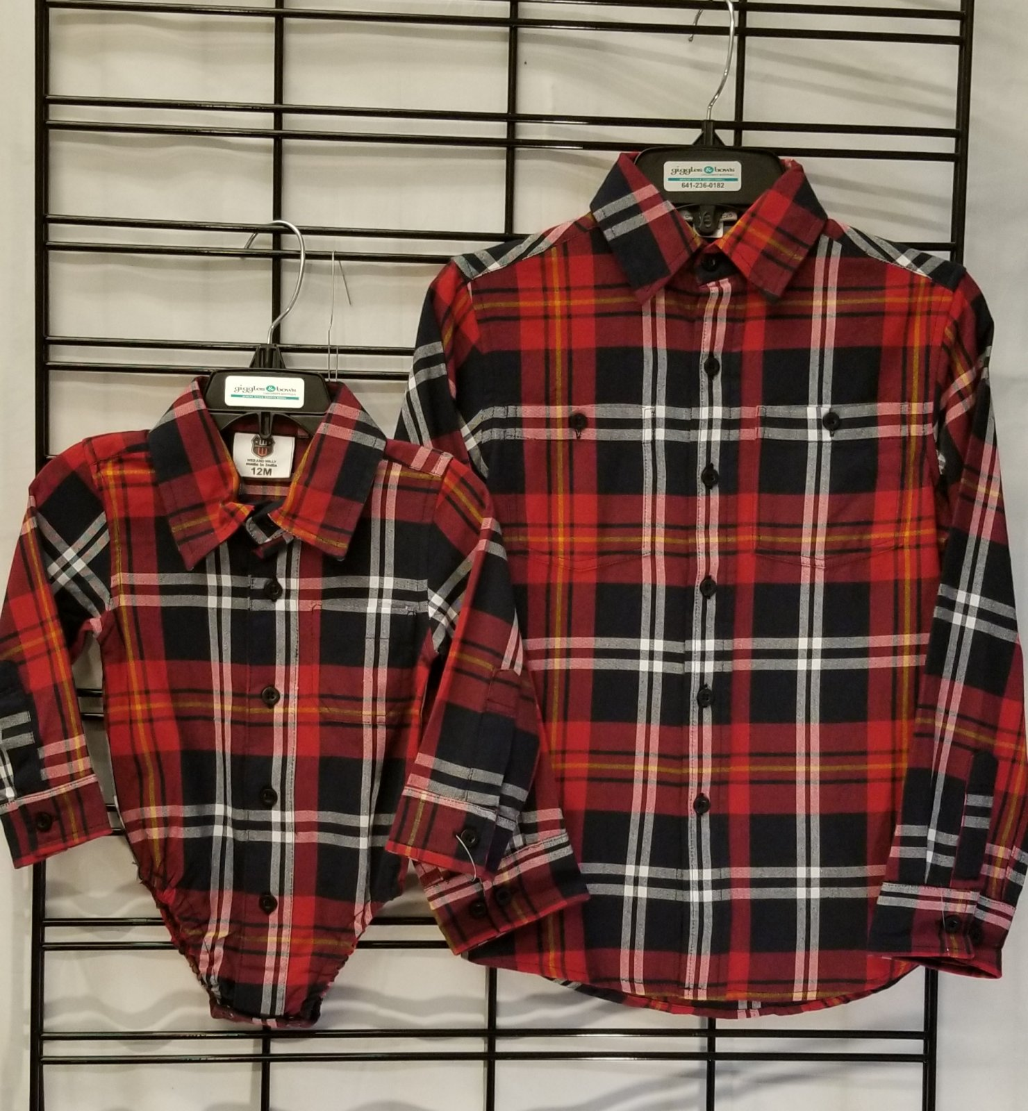 WES and WILLY - Red Plaid Shirt