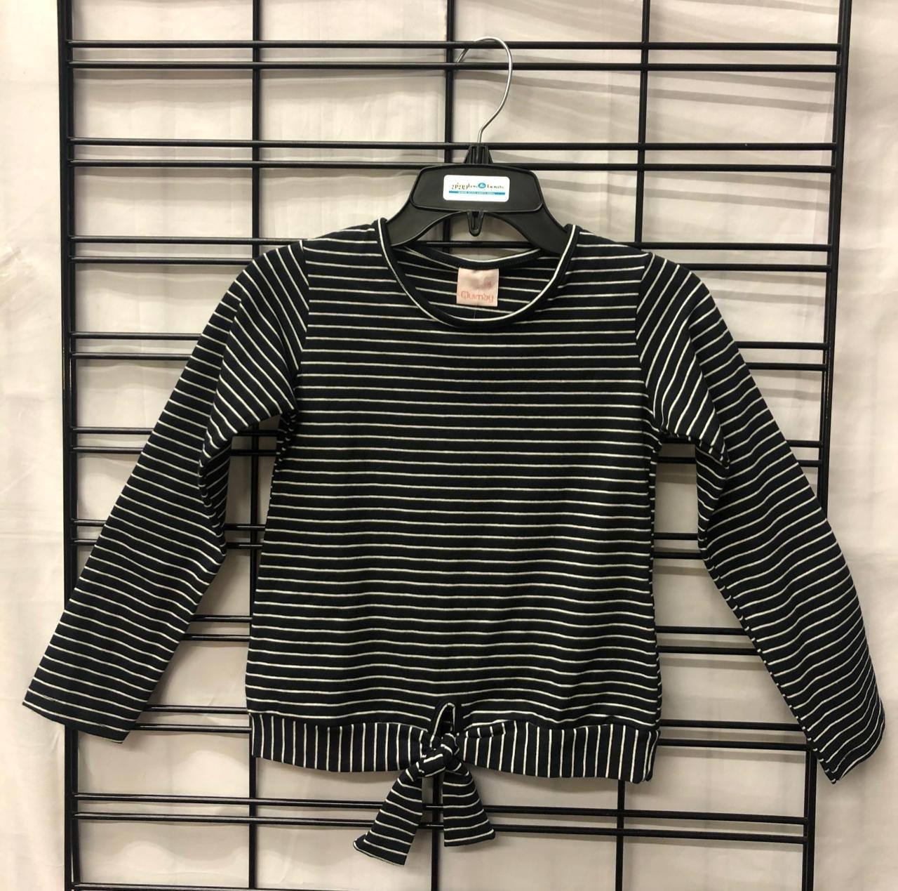 QUIMBY - LS Black/White Stripe