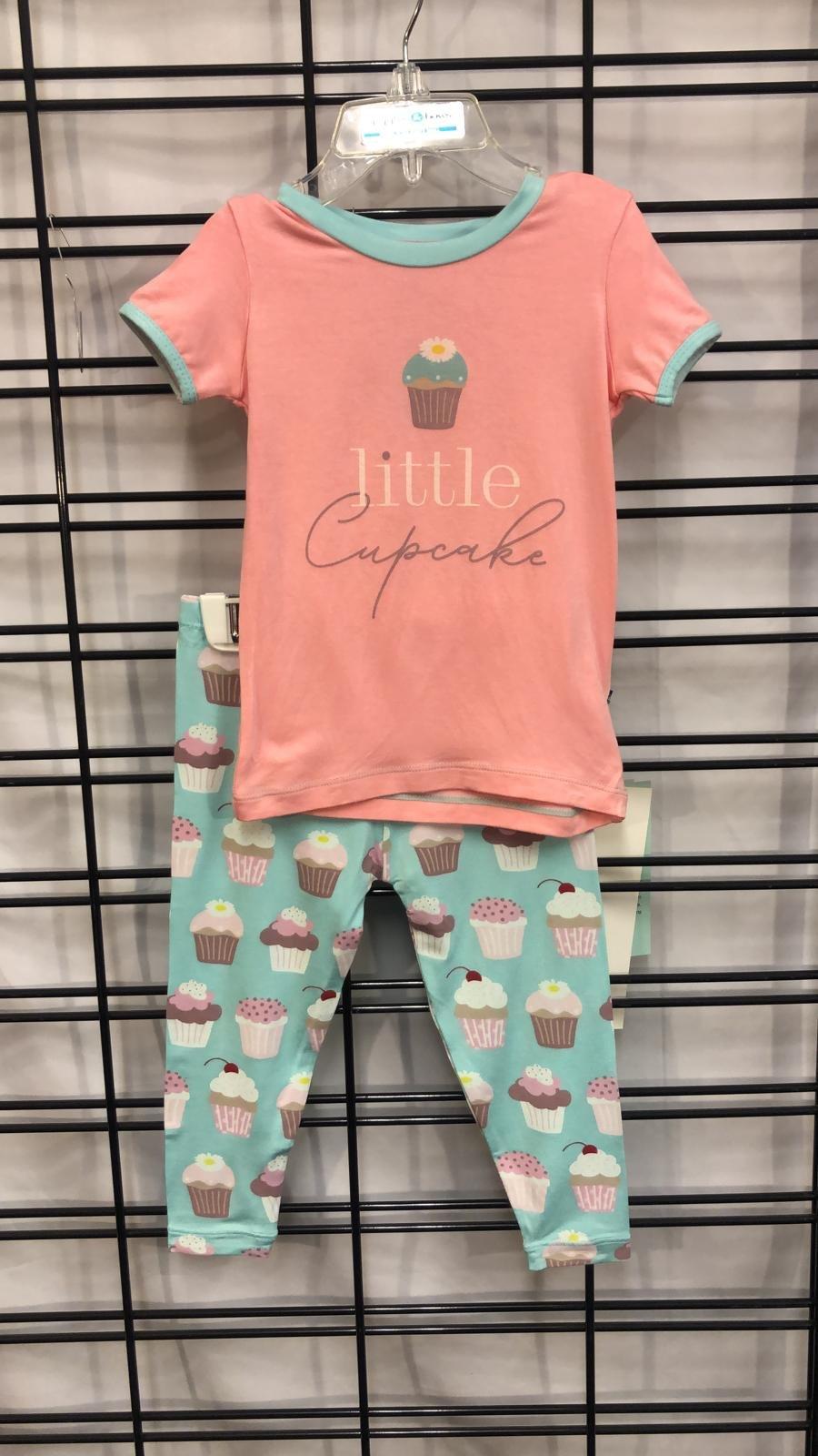 KICKEE PANTS - Summer Sky Cupcakes Short Sleeve Graphic Tee Pajama set