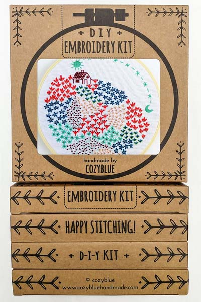 Close To Home Embroidery Kit by Cozyblue