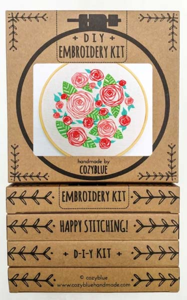 Coming Up Roses Embroidery Kit by Cozyblue