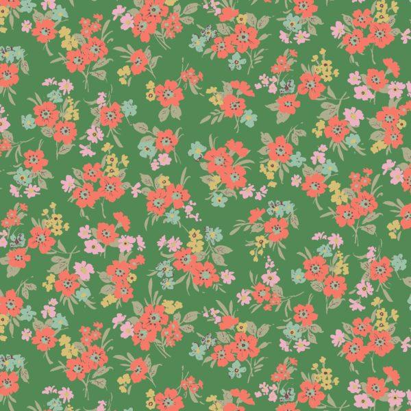 Cotton Florals by Quiltgate - Green