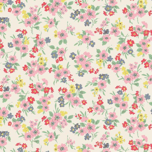 Cotton Florals by Quiltgate - White
