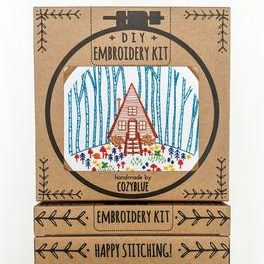 Cozy Cabin Embroidery Kit by Cozyblue