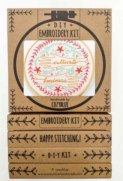 Cultivate Kindness Embroidery Kit by Cozyblue