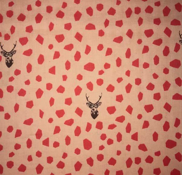 Deer / Double Gauze by Etsuko Furuya for Echino