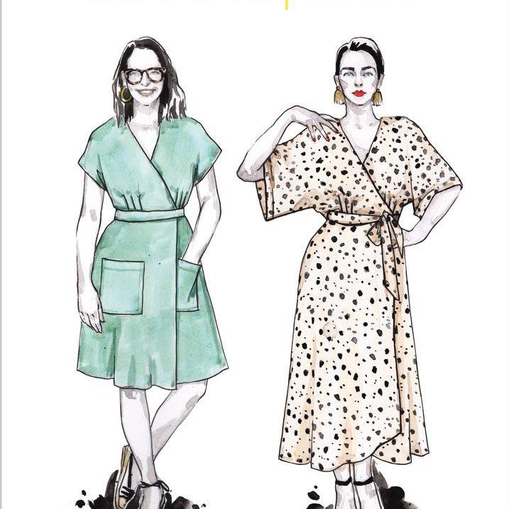 Elodie Wrap Dress by Closet Core Patterns