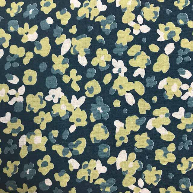 Floral Shirting - green floral