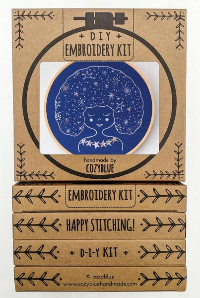 Galaxy Girl Embroidery Kit by Cozyblue