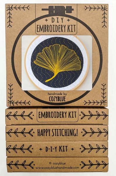 Ginkgo Embroidery Kit by Cozyblue