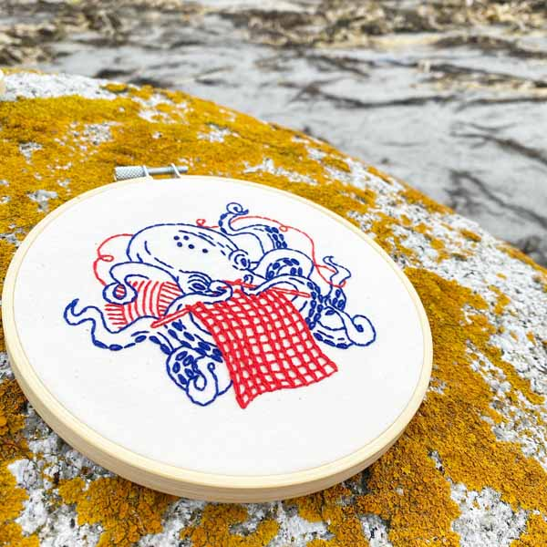 Industrious Octopus / Hook Line and Tinker Embroidery Kit