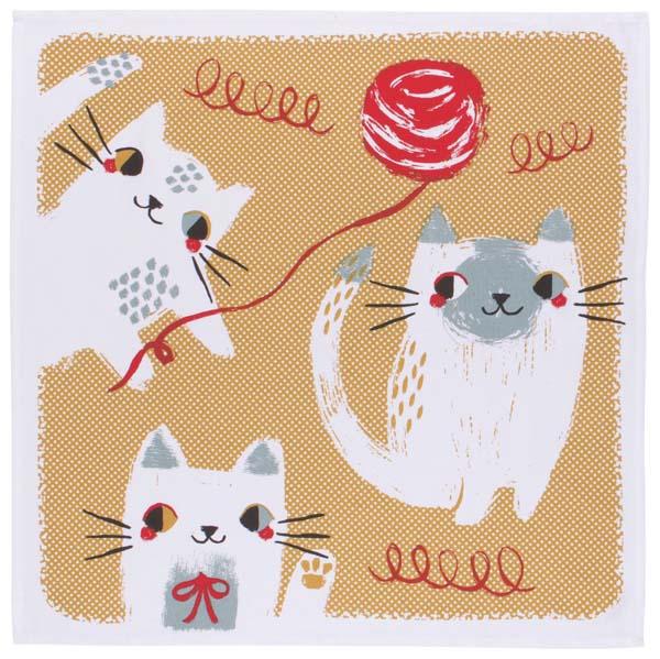 Meow Meow Square Tea Towel