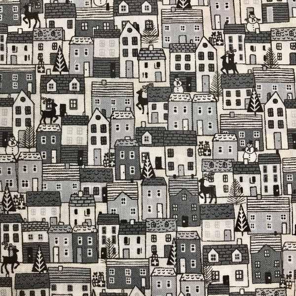 Scandi 2020 by Makower UK for Andover Fabrics - black & white