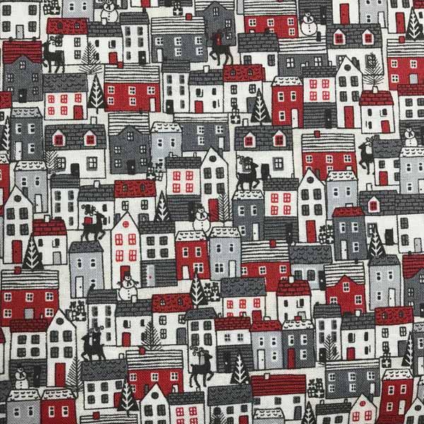 Scandi 2020 by Makower UK for Andover Fabrics - red black & white