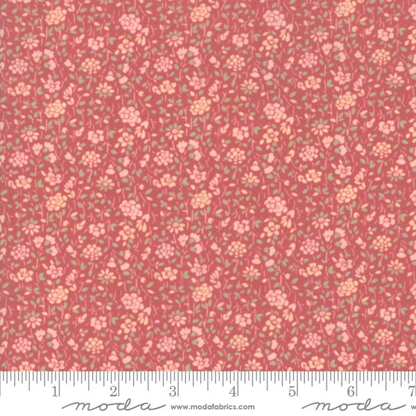 Tres Jolie Lawn by French General for Moda - tulipe faded red
