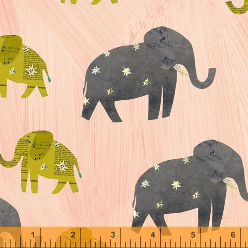 Elephants on Pink / Carrie Bloomston