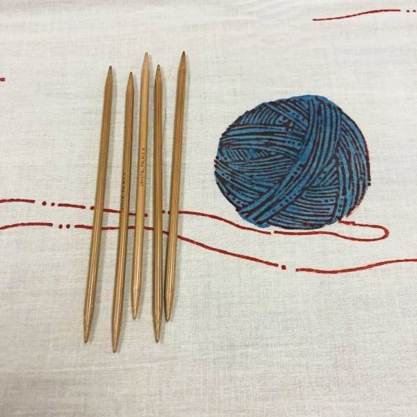 6 Double Pointed Knitting Needles by Crystal Palace Bamboo
