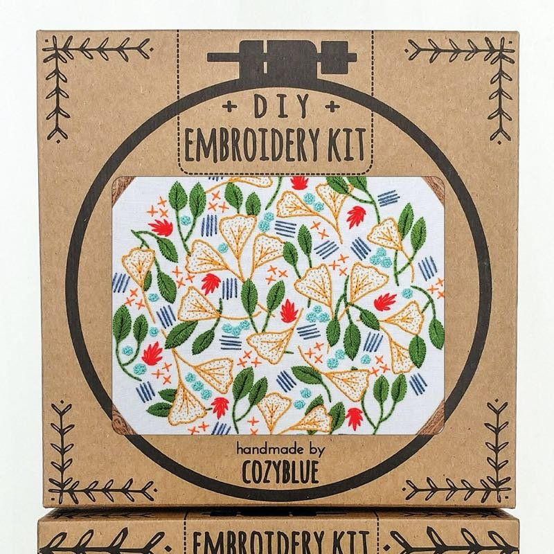 Forest Floor Embroidery Kit / Cozyblue