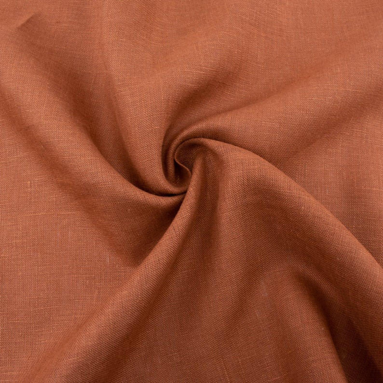 Organic Yarn Dyed Linen Solids / Apricot Brandy